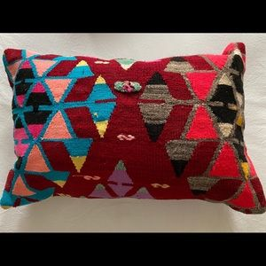Colorful Vintage Kilim Pillow